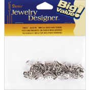 Flat Pad Earring Post & Butterfly Clutch 6mm 48/Pkg-Surgical Steel