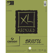 Canson XL Series Recycled Bristol Pad, 28cm x 36cm Fold Over Bound