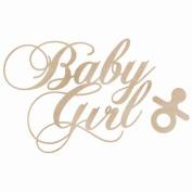 Wood Flourishes 2/Pkg-Baby Girl