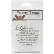 Riley & Company Funny Bones Cling Mounted Stamp 6.4cm x 5.7cm -Life Is Short