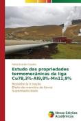 Estudo Das Propriedades Termomecanicas Da Liga Cu78,3%-Al9,8%-Mn11,9% [POR]