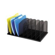Safco Onyx Steel Mesh 8-Section Desk Organiser, 48cm - 1cm x 28cm - 1cm x 20cm , Black SAF 3253BL