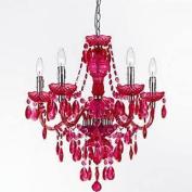 AF Lighting Angelo Home 8524-5H Fulton 5-Light Chandelier in Pink