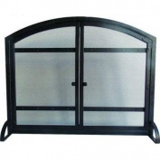 Pleasant Hearth Harper Arched Fireplace Screen with Doors FA338S