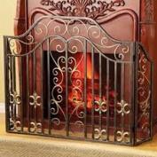SPI Home 33762 Fleur de Lis and Scroll Fireplace Screen