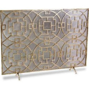 Interlude Home Palm Springs 1 Panel Iron Fireplace Screen 425008