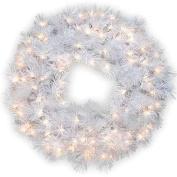 National Tree 80cm  WispyWillow Grande White Wreath