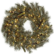 National Tree 90cm  Winchester Pine Wreath w/Lights