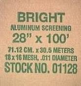 New York Wire FCS9265-M Aluminium Screen Cloth, 70cm  x 30m, Bright