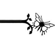 Village Wrought Iron CUR-38-35 Butterfly, Curtain ROD, Price/pair