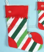 Striped 46cm  Dancing Holiday Stocking