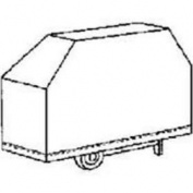 Mintcraft 68X22X37 Black PVC Grill Cover BC-SB083L ...