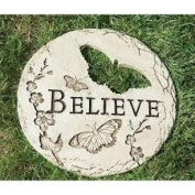 2 Butterfly Cut-Out Believe Decorative Garden Patio Stepping Stones