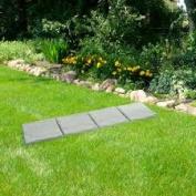 Trademark Home Outdoor Grey Rock Decorative Garden Tiles