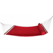 RST Outdoor Cantina Jockey Red Hammock Bed with Bolster Pillow