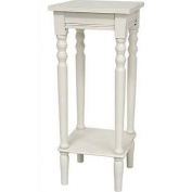BELLACOR XA-TABLE7-WHT 70cm  Classic Square Plant Stand White, Width - 30cm