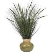 Nearly Natural Silk 27 Grass w/Mini Cattails Silk Plant