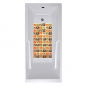 No Slip Mat by Versatraction 14 x 27 Olive Tile Bath Mat