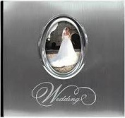 Silver Wedding Photo Album 25cm x 17cm 200 Pockets-