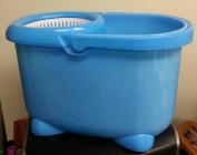 Magic Spin Mop Microfiber Mop Deluxe Bucket System Blue Bucket