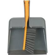 Casabella Square Dustpan and Brush in Orange 56355