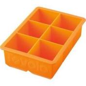 Tovolo King Cube Tray - Silicone Ice Cube Tray Orange