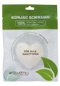 Pure konjac sponge for all skin types, heart-shaped