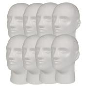 NEW 8pc Male 28cm STYROFOAM FOAM MANNEQUIN MANIKIN head wig display hat glasses