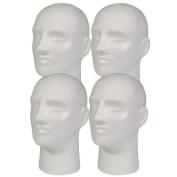 NEW 4pc Male 28cm STYROFOAM FOAM MANNEQUIN MANIKIN head wig display hat glasses