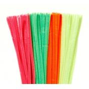100 Neon Chenille Stems