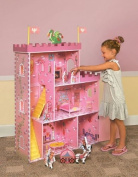 Dollhouse Play House w/16 Piece Accessory & Furniture Set - Dollhouses and Playhouses are Children's Toys that Provide Hours of Entertainment & Sparks of Imagination - Get yours Today! Kids will have Guaranteed Fun With This Magic Castle!