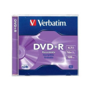 VERBATIM 94916 DVD+R 16X 4.7GB Branded Jewel Case 1pk