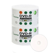 Smart Buy 100 Pack Dvd-r 4.7gb 16x Thermal Printable White Blank Data Video Movie Recordable Media Disc, 100 Disc 100pk