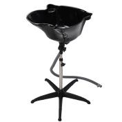Adjustable Portable Salon Shampoo Hair Treatment Deep Washing Bowl in Black
