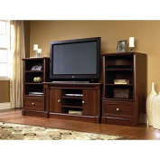 Dual Tower Televison TV 120cm Entertainment Centre and Media Stand Storage Towers in Cherry Wood.
