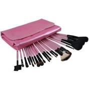 23 PCS Pink Premium Wool & Fibre Hair Makeup Brush Set Cosmetics Foundation Blending Blush Eyeliner Face Powder Brush Lipstick Brush Makeup Brush Kit Cute Pink Pouch