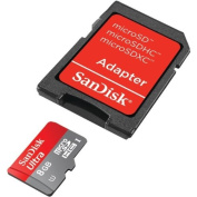 SANDISK SDSDQUA-008G-A46A microSDHC(TM) Memory Card with Adapter