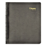 MiracleBind 17-Month Academic Planner, Soft Cover, 11 x 9-1/16, Black, 2015
