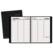 """Recycled Weekly Appointment Book, Black, 8 1/4"""" x 10 7/8"""", 2015-2016"""