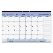 Monthly Desk Pad Calendar, 17-3/4 x 10-7/8, 2015