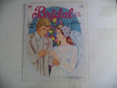 Whitman 5 Paper Dolls Bridal Paper Doll Book #1985-41
