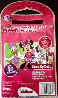 Minnie Dress up Paper Dolls Activity