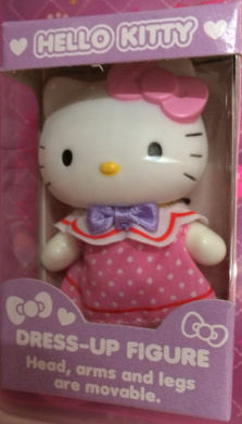 Hello Kitty 7.6cm Dress-up Figuire W/head,arms and Legs Are Movable