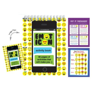 iscream / Emoticons 96-page Activity Book with Picture Changing Cover