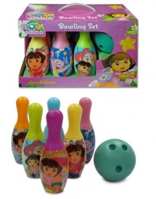 "New Indoor Bowling Toy for Kids "" Dora the Explorer Bowling Set """