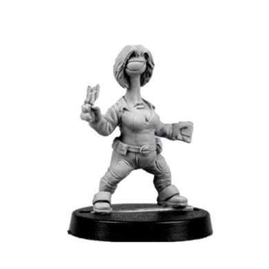 Bombshell 28mm scale Miniatures: Neema, Tech Specialist