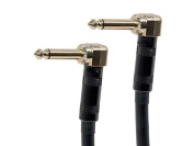 20cm 0.6cm TS or Mono Phono Right Angle Male / Male 16AWG Guitar Patch Cable Gold Plated