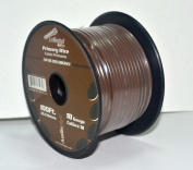 Brown 18 gauge 30m Power Cable Car Audio Primary Remote Wire Copper mix
