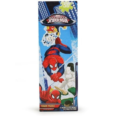 48pc Spiderman 4 Tower Puzzle 2asst