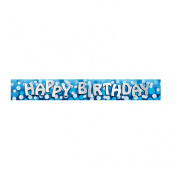 Happy Birthday Foil Banner - 2.7m